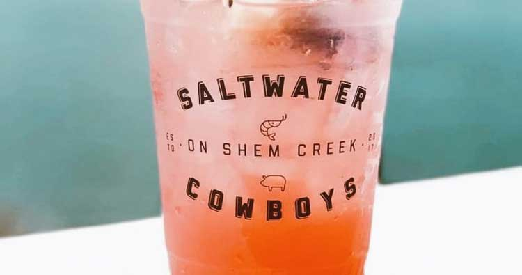 Saltwater Cowboys restaurant, Shem Creek in Mount Pleasant, SC
