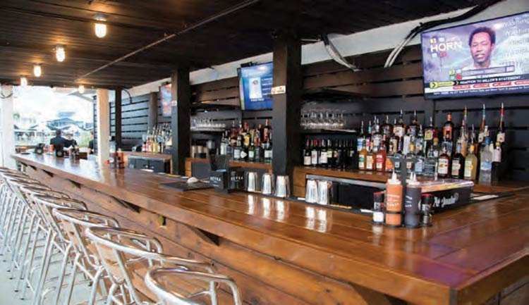 Food, Drink and Atmosphere at Saltwater Cowboys on Shem Creek in Mount Pleasant, SC.