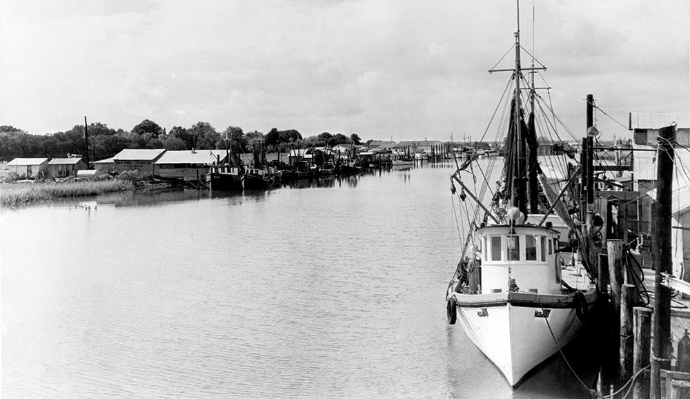 This photo of Shem Creek is from the early 1950s. Photo provided by Billy And Bubba Simmons of Simmons Seafood.